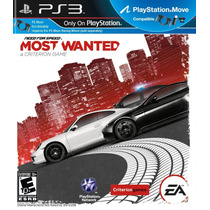 Need For Speed Most Wanted Ps3 Compatible Move Nuevo