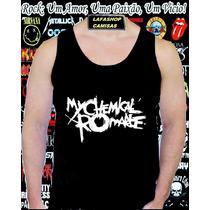 Camiseta Regata My Chemical Romance Camisa Banda Sem Manga