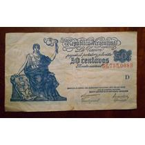 Billete De 50 Centavos Moneda Nacional Serie D Circulado