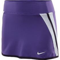 Falda Pantalon Deportiva Nike Morada Xs 100% Original