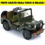 Miniatura Em Metal - Jeep Militar M151 Com Metralhadora - La