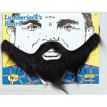 Disfraz De Leñador - Accesorio Barba Negra