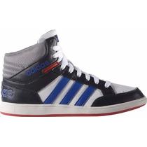 Zapatillas Adidas Neo Hoops Mid K Niños Blanco C/negro