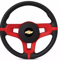 Volante Opala Mustang Esportivo Preto Logo Chevrolet