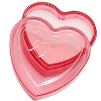 60 Caixinhas Embalagem Acrilico Coração Lembrancinha