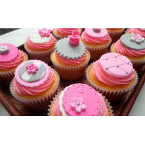 Cupcakes Con Decoración Temática (precio Por Docena)