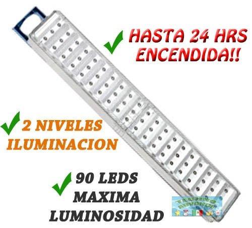 Lampara de emergencia 90 leds 24hrs encendida 2 niveles - Precio luces de emergencia ...