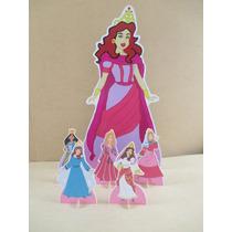 Princesas Biblicas De Mesa E Chão Display Infantil,mdf