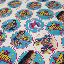 Stickers Candy Bar Golosinas Personalizadas Hoja A4 X1