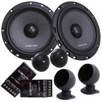 Kit 2 Vias Audiophonic Kc6.3+coaxial 5 Cb525+sub 10 C1-10d2