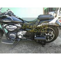 Alforge Bolsa Solo Midnight 950 Lateral Couro Moto Custom