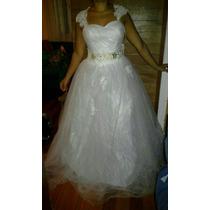 Vestido De Novia, Con Etiqueta Es Chino, Talla 38-40