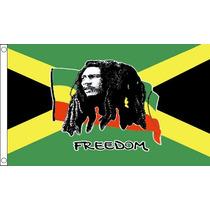 Bandera - Bob Marley (jamaica) 3ftx 2ft Ojales De Metal