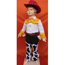 Hermoso Disfraz Estilo Vaquerita Jessie Toy Story De Lujo