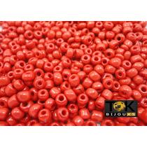 Missangão Vermelho Opaco 6/0 - 500g