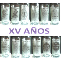 Vasos Para Xv Años, Bodas, Bautizos, Recuerdos, Regalos Etc.