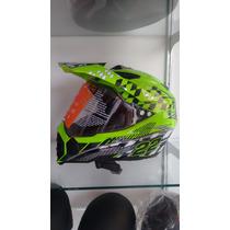 Casco Moto Cross Doble Proposito Con Mica