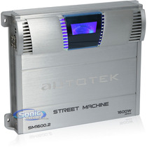 Planta 2 Canales Sm1600.2 Autotek 1600 Watts-rockford-kicker