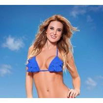 Bikini Cocot Corpiño Triangulo 3 Volados 12608 Traje De Baño