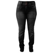Calça Jeans Reta Oregon Black - Plus Size Tamanhos 38 Ao 54