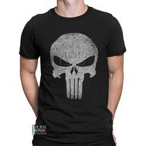 Camisa, Camiseta Justiceiro Marvel Punisher Frank Castle Hq