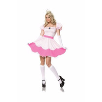 Disfraz Princesa Peach Mario Bros Para Damas Envio Gratis