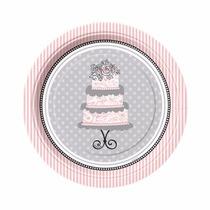 48 Platos Elegant Wedding 7 Pulgadas Desechables De Cartón