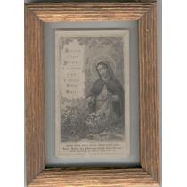 Cuadro 2 Imagen Antigua. La Virgen Y El Cordero.hermosa.
