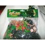 Gcg Lote De Soldados Verdes Y Beige Plastico Retro 60 Pzas