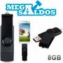 Megasaldos Pendrive 8gb Otg Usb + Microusb Tablet Celular Pc