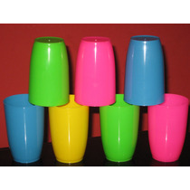 100 Vasos Plasticos Reforz. Irrompibl. Ideal Para Tu Fiesta