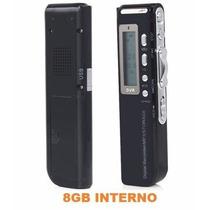 Gravador De Voz Digital Espião 8gb Grava Até 12 Dias Cp34