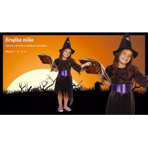 Disfraz Bruja Gorro Faja Violeta Halloween Fiesta Concert