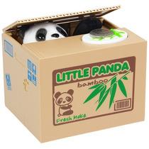 Alcancia Mecanizada Panda Roba Moneda