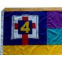 Bandeira Da Igreja Do Evangelho Quadrangular Oficial Bordada