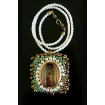 Escapulario Virgen De Guadalupe Bordado A Mano Diseño Unico