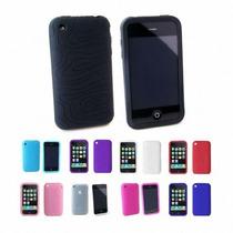 Black Apple Iphone 3g 3g 8gb 16gb 32gb Piel Con Textura De