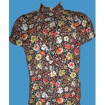 Camisa De Caballeros De Estampados De Flores.