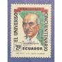 Estampilla Ecuador El Universo Diario Cincuentenario 1971