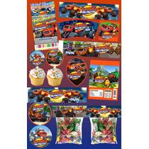 Kit Imprimible Blaze Monster Machine Mas De 30 Etiquetas