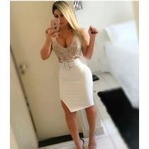 Vestidos Femininos Renda Com Decote Estilo Panicat Promoção