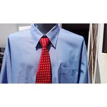Camisa Ideal Traje Roundtree Tallas Extra 3xl Cuello 19 Azul