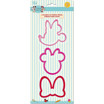 Cortador De Galletas Minnie Mouse 3pzs