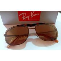 Armação+ Solar Rb6119 Clipon Polarizado Oculos Grau Bronze