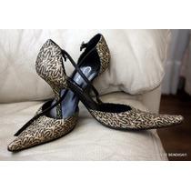 Gacel Zapatos Fiesta Dorados Negro Con Correa 37