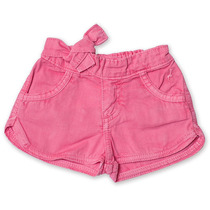 Shorts Jeans Infantil Feminino Rosa Tamanho 01 - Toffee