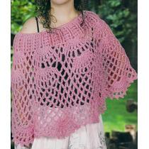 Poncho O Capa Tradicional Crochet