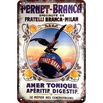 Cartel Antiguo En Chapa Gruesa 20x30cm Fernet Branca Dr-066