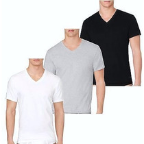 Camiseta Básica Calvin Klein Decote V C/ Logo- Ver Cores/tam