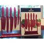 Exhibidor De Cuchillos 5 Piezas Böker Cut Rojo